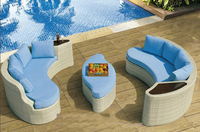 Popular Outdoor Rattan Garden Day Bed