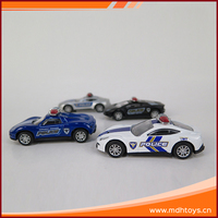 Wholesale good quality police series pull back small metal diecast cars