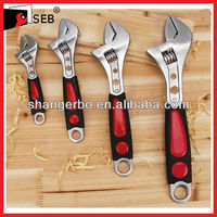 Cheaper Adjustable types of Spanner with 2-Color Rubber Handle