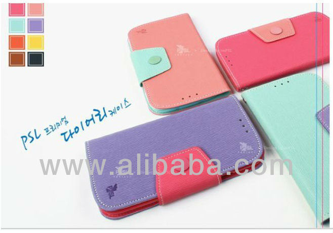Korean Diary cases for Galaxy S4, Note 2, S3, iPhone 5, iPhone 4/4S