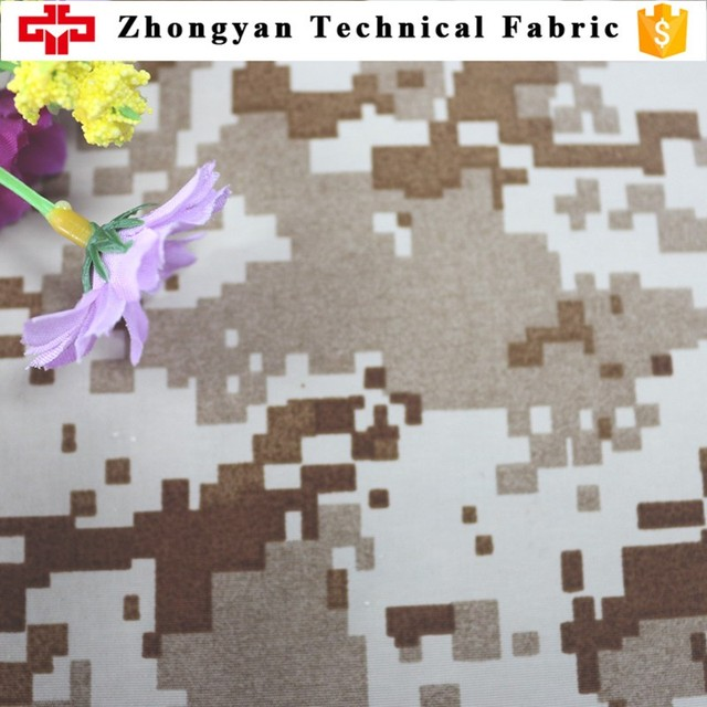 teflon 100% polyester woven waterproof outdoor military camouflage rain jacket fabric