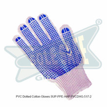 PVC Dotted Cotton Gloves ( SUP-PPE-HAP-PVCDHG-517-2 )