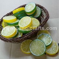 10pc artificial Lemon slices Lifelike Decorative Artificial Plastic Fake fruit