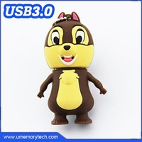 The squirrel shaped usb drive 3.0 pendrive 32gb 3.0 shenzhen animal-shaped usb flash drives