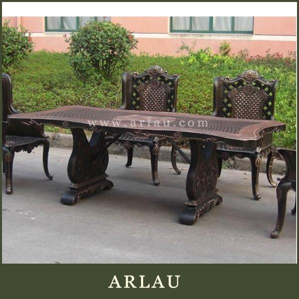 wrought iron outdoor round table,metal picnic table sets,iron outdoor furniture
