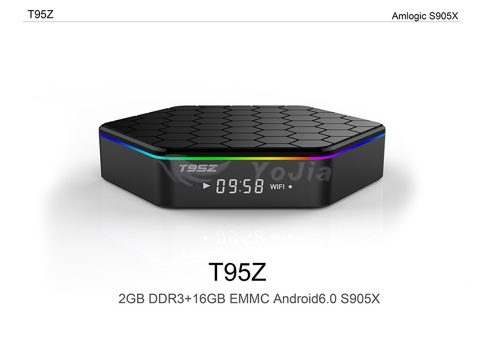 Newest T95Z Amlogic S905X 2G 16G Quad Core Android 6.0 Marshmallow tv box with dual wifi HD smart media player