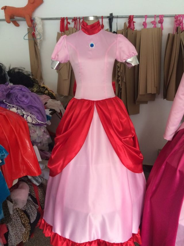 Princess Peach Super Games Fancy Dress Up Party Costume