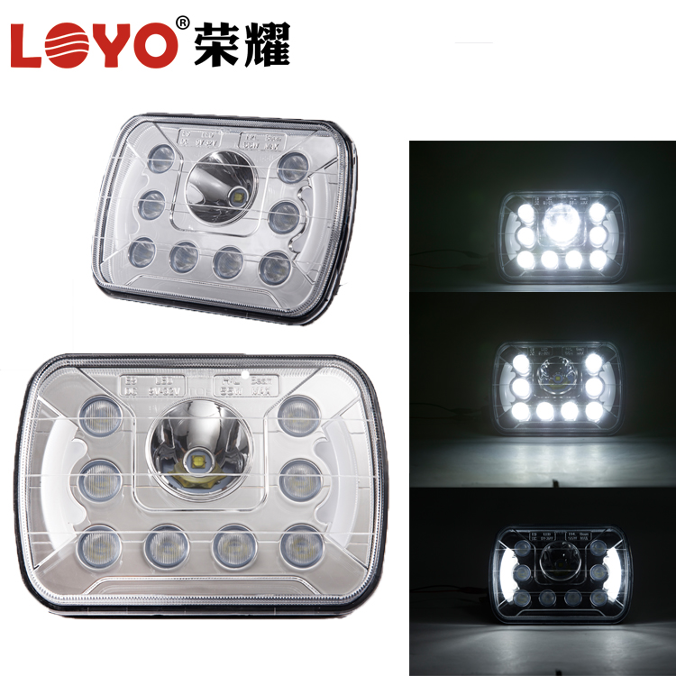 5x7 led work light for jeep square high low beam 45w led truck headlight