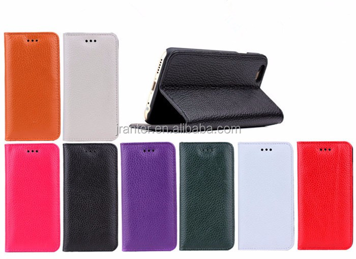 Factory OEM Leather 5.5 inch Wallet Phone Case for Iphone 5c Flip Cover Case