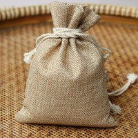 China style jute small drawstring pouch/ jute gift bag