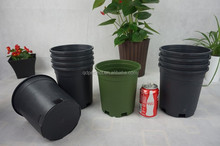 Small/Large black plastic planter pot decorative indoor outdoor use