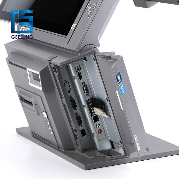 AIO-801 Dual screen 15''+12'' pos system/pos terminal with CE approved for sale