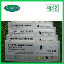 Kingjet refillable ink cartridge for epson T573 Picture Mate100 with ARC chips