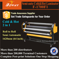 F-1700F1 Semi-auto 1620mm 64 inch Hot and Cold laminator 1600