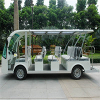 open top sightseeing bus(Electric 48V cart,14 seater sightseeing car)