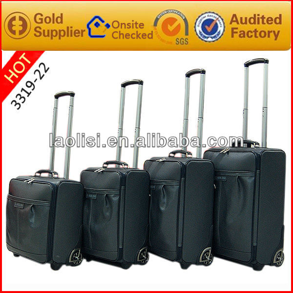 4pcs rolling luggage trolley bag /4pcs high quality but cheap luggage bag manufacturing
