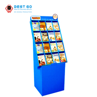 factory custom floor standing cd holder display stand/ dvd display cases/ dvd cardboard display