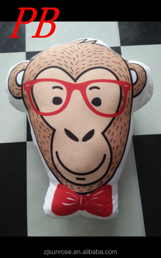 wholesale 3d digital printing monkey decorative pillow cushion throw pillow