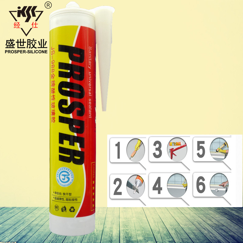 China Supplier RTV GP Ceramic Fixing Acetic Silicone Sealant