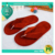 Polyester Velvet Pile Hotel Flip-flops / Wholesale Red Velour Women's Flip-flops / Custom Fleece Dotted Fabric Guest Flip-flops
