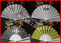 Factory price fabric plastic hand fan