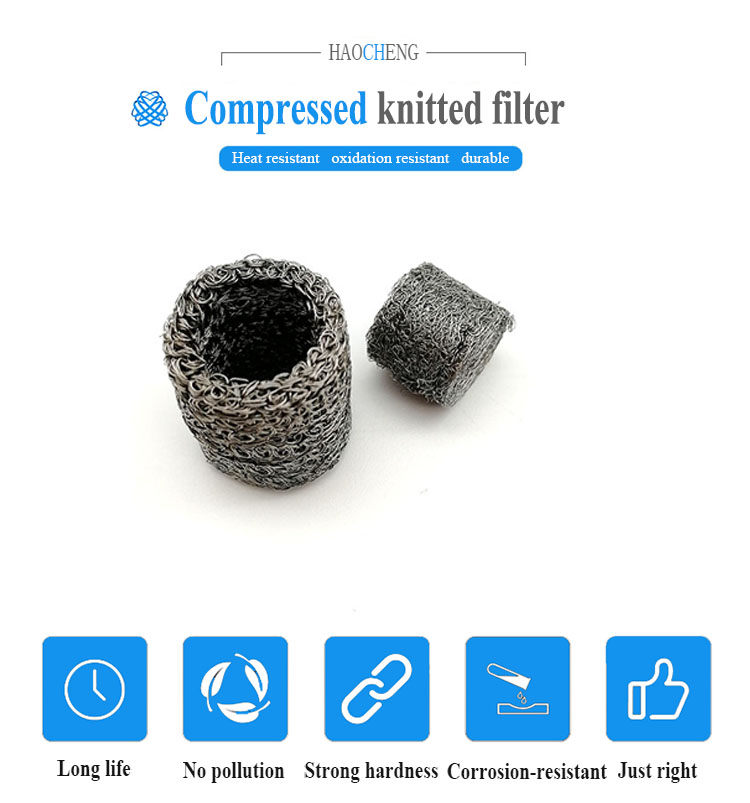 stainless steel knitted wire mesh filter / snow foam lance filter