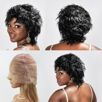 5a Grade For Black Women 100% Human Hair Brazilian Full Lace Wig