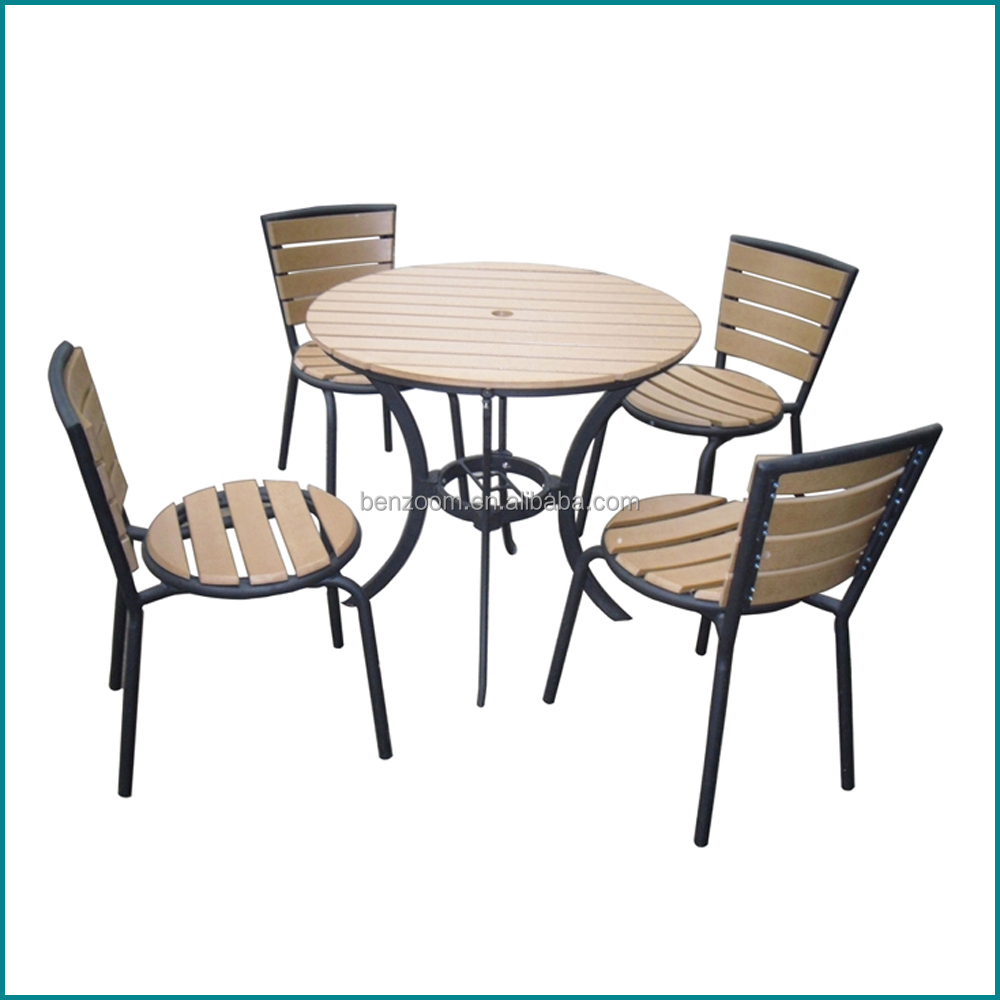 Modern outdoor furniture wooden dining table set AW-902TC