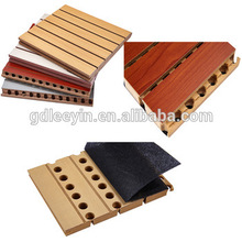 High Quality MDF Grooved Wood Acoustic Panel For Auditorium, Meeting room, Office , Studio, Recording room, etc