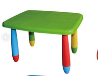 Kids furniture for children design / colorful plastic table