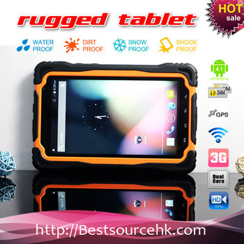 Professional Quad core NFC rugged tablet build in RFID 13.56MHZ ISO14443A MTK6589 M76QN tablet wifi bluetooth GPS pass CE
