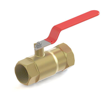 1.5 Inch 90 Degree Brass Manual Operated Ball Valve
