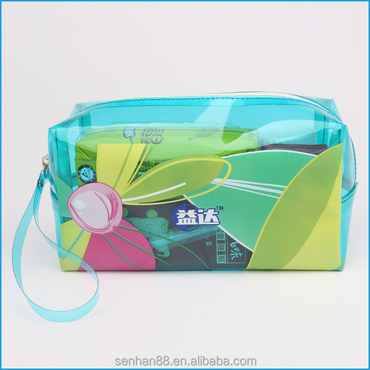 HOT sale packing bag PVC cosmetic packing plastic bag with zipper