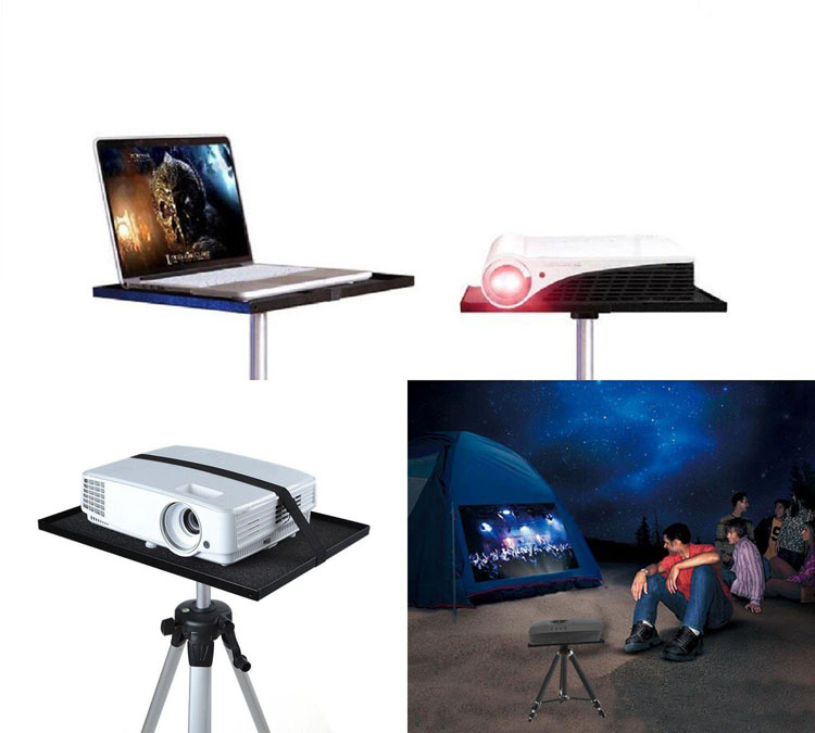 Universal Laptop Notebook Projector Tray Holder Platform Pallet for 1/4'' and 3/8'' Screw Tripod Stand Mount