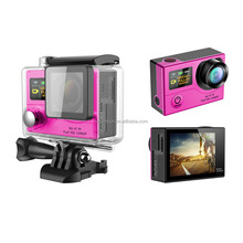 wifi wireless ultra 4K lcd display action camera mini dual display 2.0inch LCD+0.95 inch OLCD waterproof camera