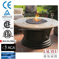 decorative round outdoor gas table fire pit