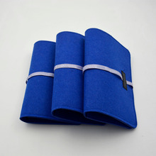 wholesale blue felt exeicise book cover with strap for notebook