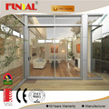 Superhouse aluminum profile sliding glass door with mosquito netting from shenzhen china