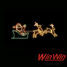 2014 new product 2D Santa Claus Ling deer running slide decorative LED Christmas motif light