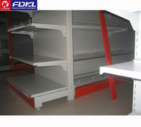 Top quality metal supermarket shelf, weld base leg!