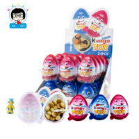 New !!! wholesale surprise egg with kengo toy and cartoon chocolate biscuit