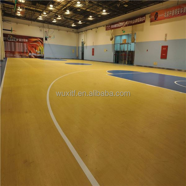 outdoor basketball court rubber flooring customized basketball court pvc laminate flooring