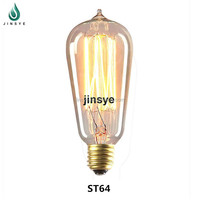 Decorative T58 E27 Antique vintage edison light bulb filament bulb