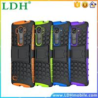 200pcs/lot Dual Layer Heavy Duty Rugged Armor Robot Cell Phone Combo Stand Case For LG G4 Beat/G4S Hard Cover Shockproof