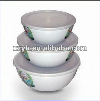 roud melamine Bowl with cover MDB0040
