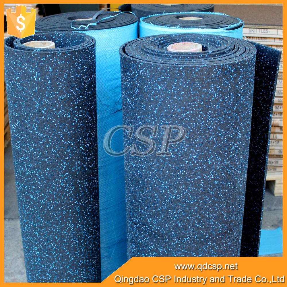 Elastic shockproof easy clean rubber cross fit floor mat
