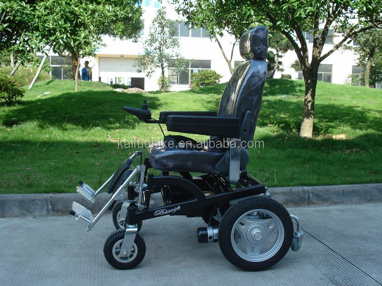 Aluminum Power Comfortable Standind Electric Wheelchair For Elderly People