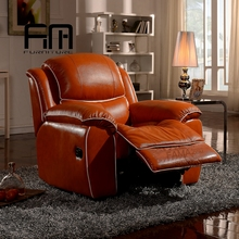 2018 American style sofa furniture, lazy boy vintage leather electric recliner sofa