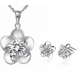 Plum Blossoms Zircon Flower Sets