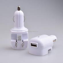 White single USB Car Charger with US wall charger fast Charge 2.1A for iPhone 6 6s Plus 5 SE 5s 5c 4 4S Samsung Galaxy